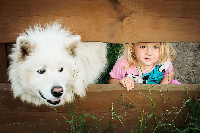 С лучшим другом  дружба, ребенок, собака
