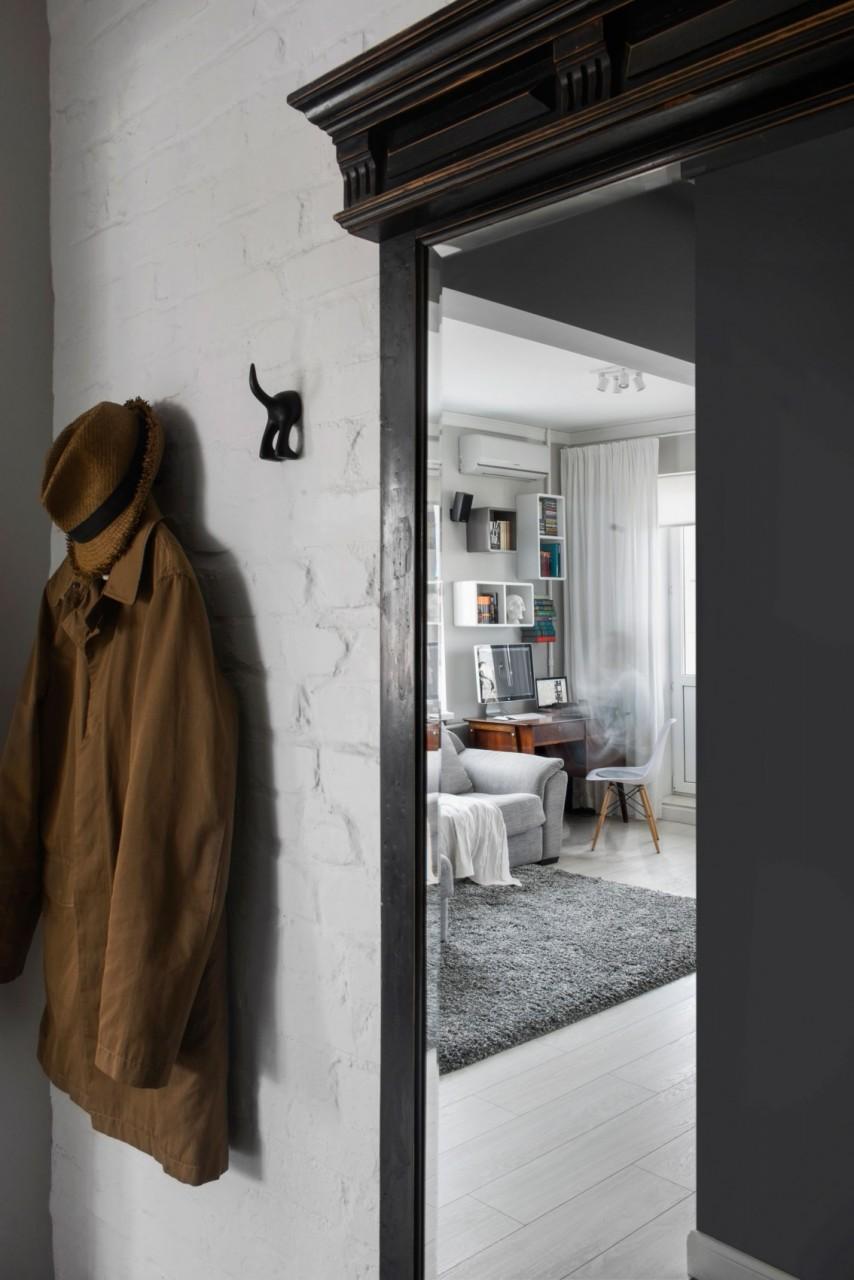 Дизайнерский ремонт маленькой квартиры в хрущёвке дизайн, интерьер, квартира, москва, хрущёвка