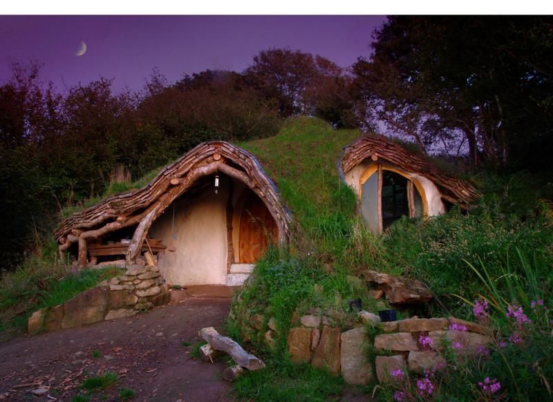 1. Домик Хоббита в Уэельсе, Соединенное Королевство. в мире, дом