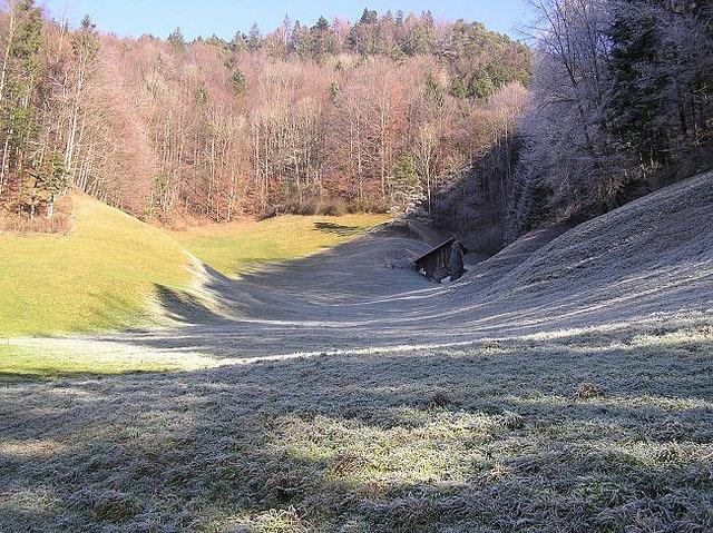 Удивительное природное явление - ледяные тени