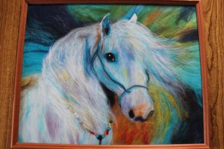 Картина «Белая лошадь» (продам)