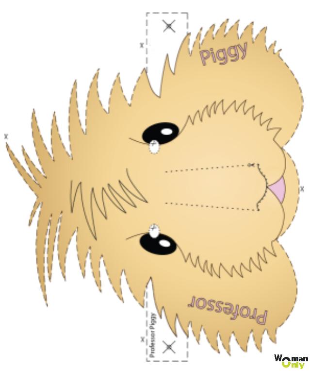Новогодние маски из бумаги - праздник уже с вами маска морской свинки