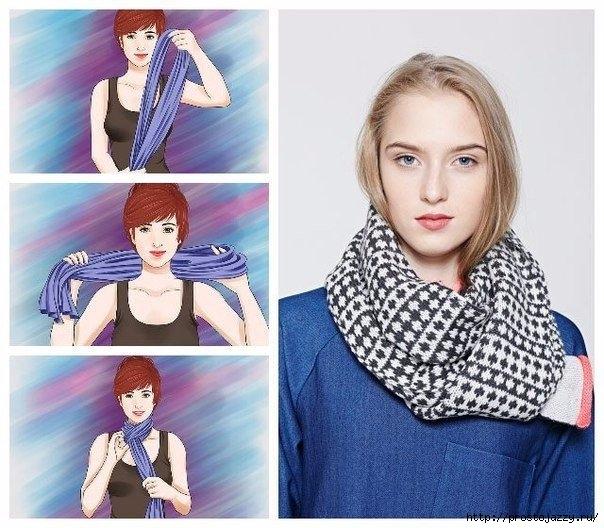 Семь способов носить шарф осенью4 (604x528, 210Kb)