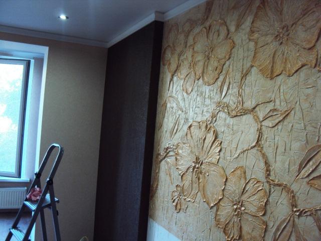 Панно из обоев на стену фото