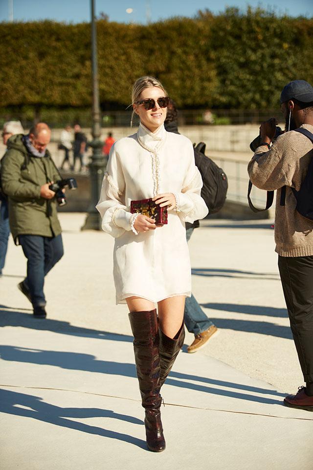 Неделя моды в Париже, весна-лето 2016: street style. Часть 1 (фото 39)