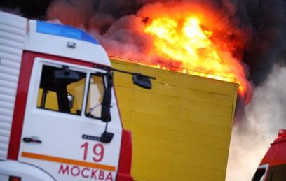 Пожар на складе текстиля на юго-востоке Москвы ликвидирован