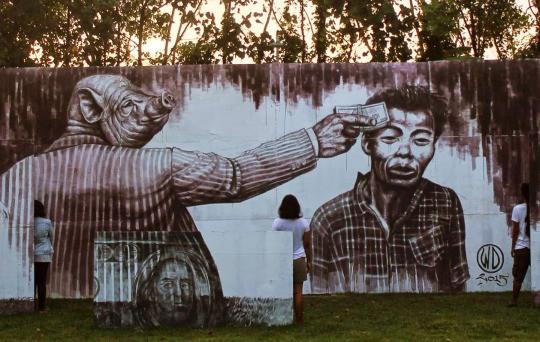 21. Бали, Индонезия граффити, стрит-арт, художники