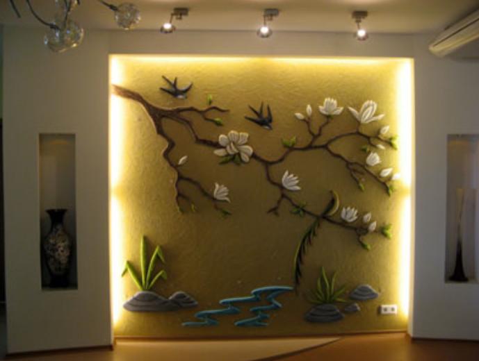 Объемные украшения на стену своими руками