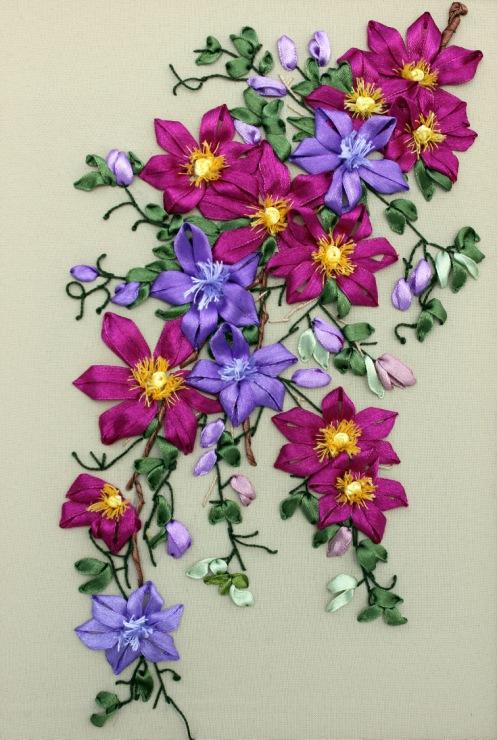 Картинки из атласных лент своими руками цветы легкие схема