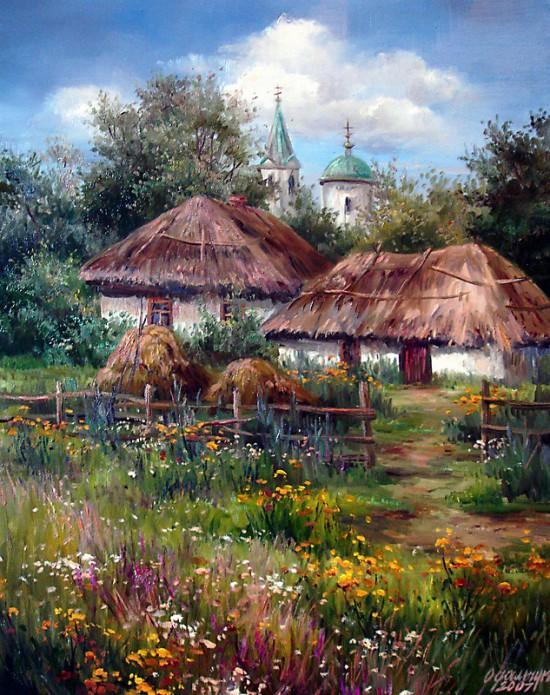 пейзажи художник Ольга Одальчук - 13