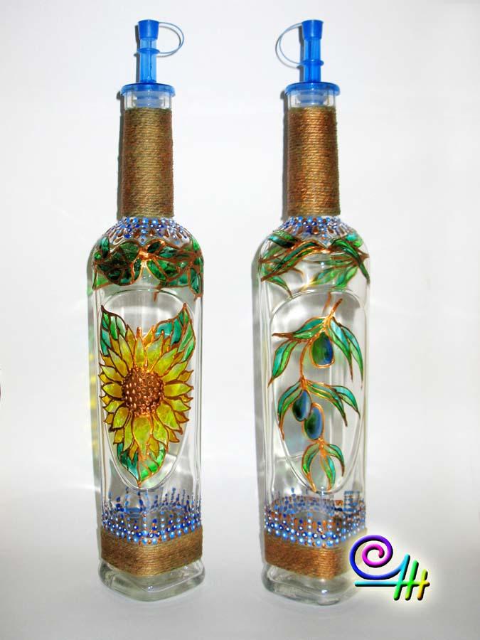 Бутылка для масла своими руками