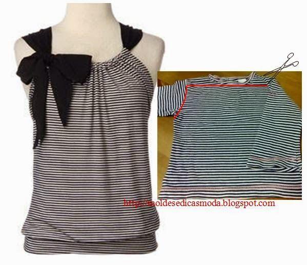Moda e Dicas de Costura: reciclagem DE Camisetas