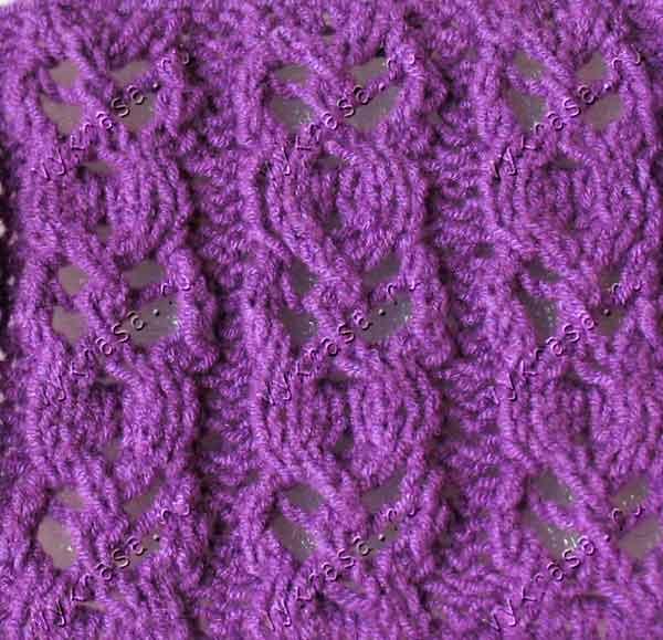 ажурные вставки спицами схемы вязания