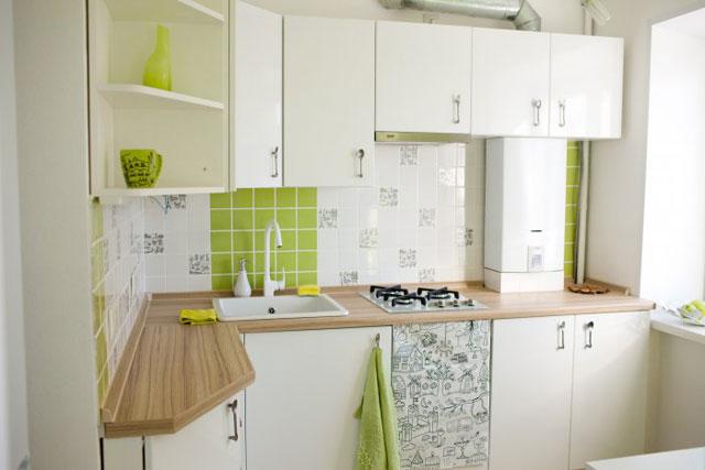 Дизайн кухни в хрущевки с газовой колонкой