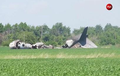 Видео с места катастрофы учебного Ан-26 в Саратовской области