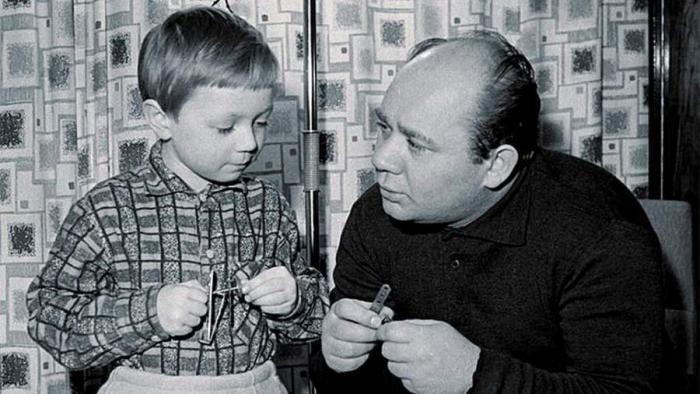 Подборка семейных фотографий советских актеров