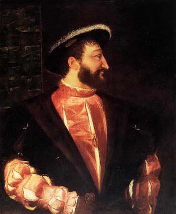 Тициан. Портрет французского короля Франциска I
