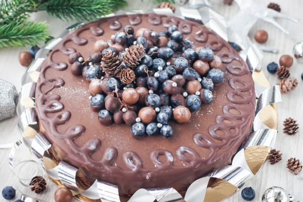 Рецепты и фотографии шоколадных новогодних тортов