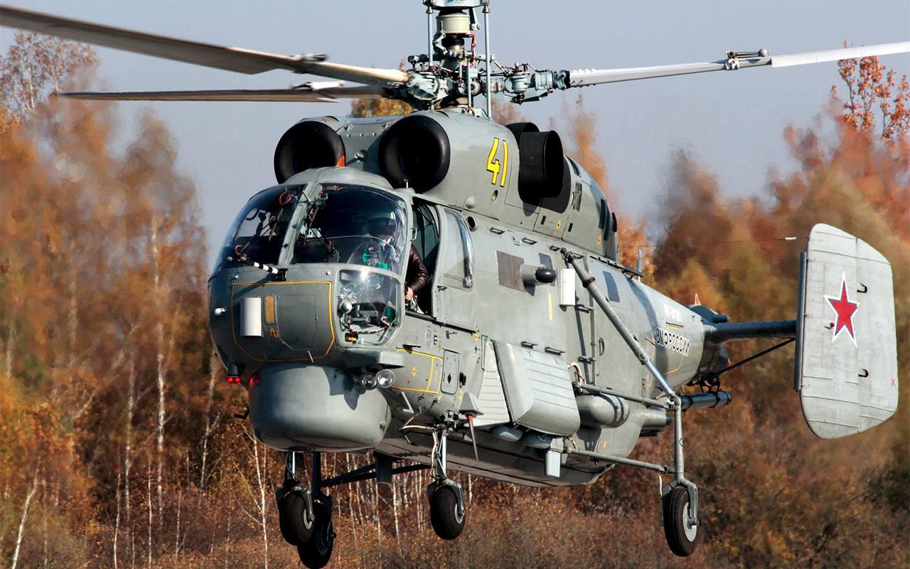 Облет первого модернизированного противолодочного вертолета Ка-27М авиации Балтийского флота