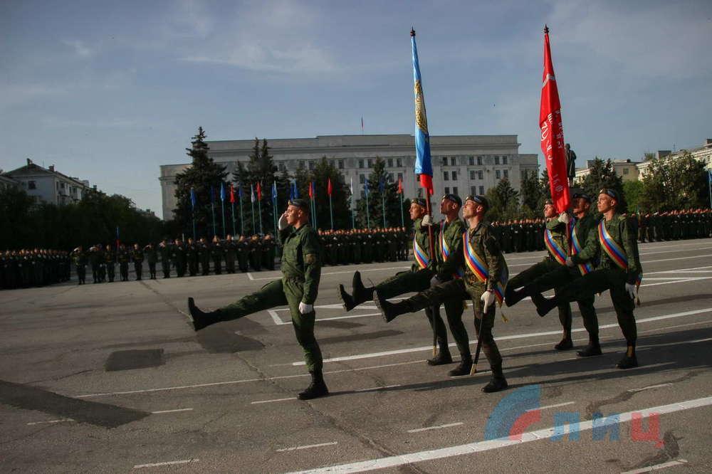 Репетиция парада в Луганске