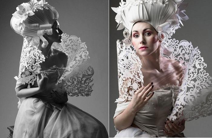 «Бумажное» барокко: потрясающие костюмы от украинской художницы