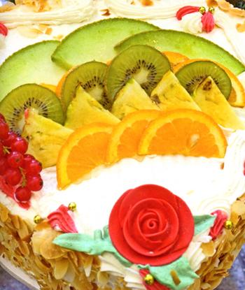 Торт «Фруктовая мечта» (Herztraum mit Fruechten)