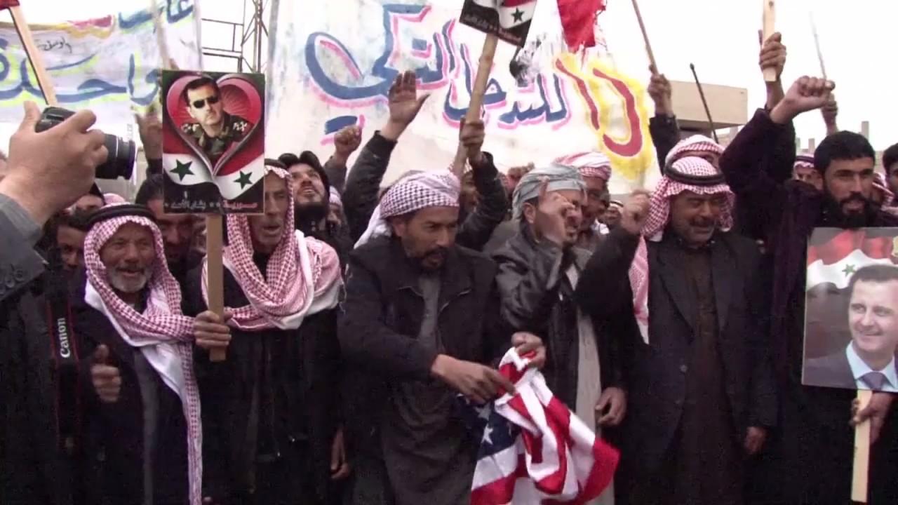 Репортер ФАН запечатлел массовые митинги против США в Заевфратье