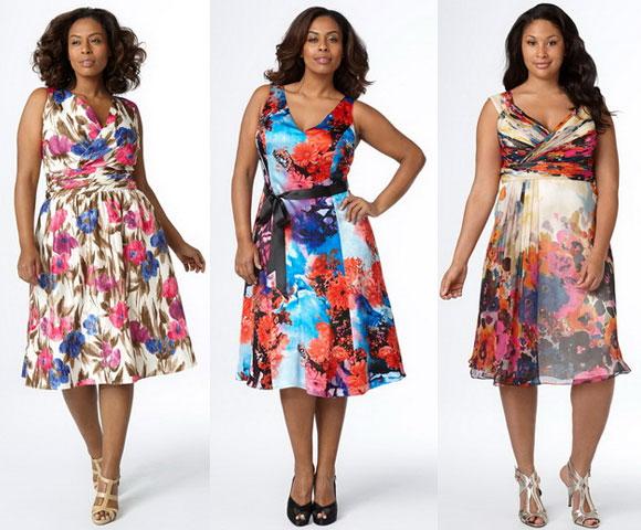 Женское платье на полных с выкройками