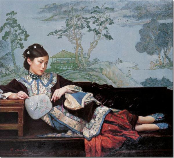 Как цветы лотоса. Китайский художник Чень Имин и его прелестницы в ципао