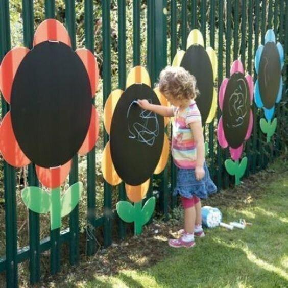 Можно и забор приспособить для рисования Фабрика идей, гениально, дети, занятие, интересное, родители, увлечение