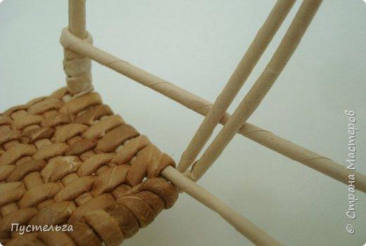 Кукольная жизнь Мастер-класс Плетение Стульчик Трубочки бумажные фото 13