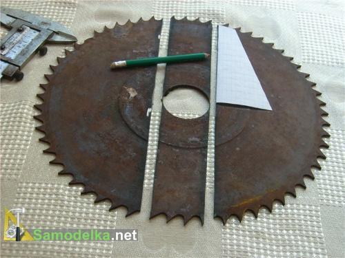 Соломорезка с ножами из диска циркулярки