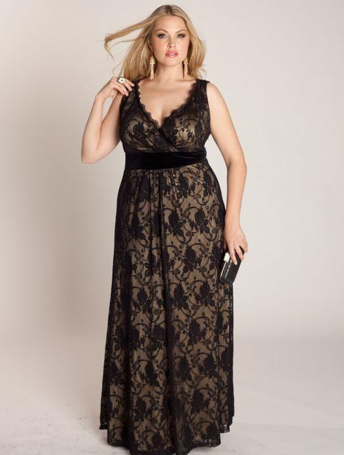 Вечерние платья больших размеров своими руками