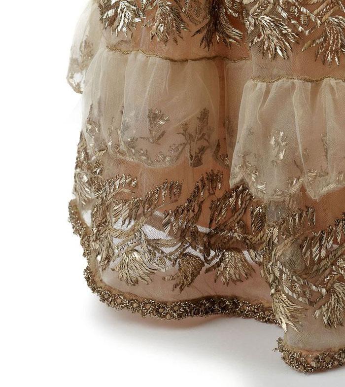 Великолепная вышивка, нежнейшее кружево, шелковые ленты: прекрасные детали антикварных платьев