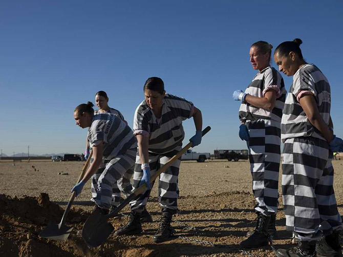 Будни женщин-заключенных в одной из тюрем США