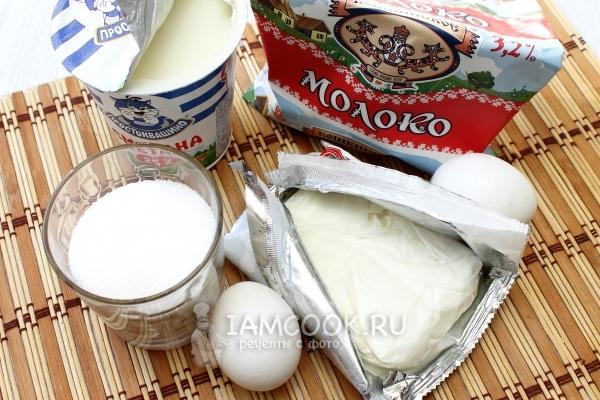 Ингредиенты для суфле из творога