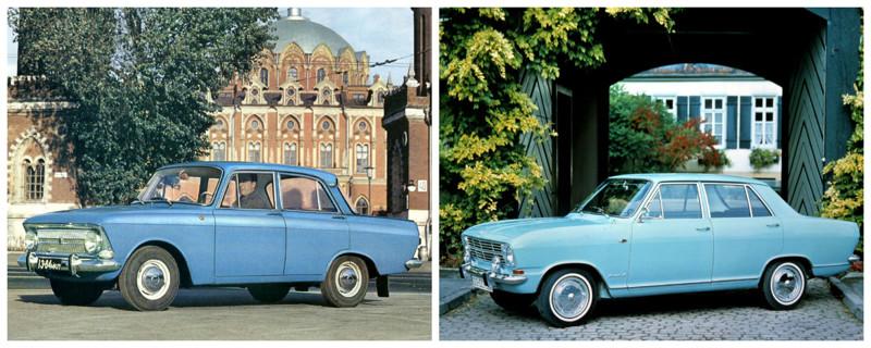 Москвич-412 (1967-1976)-Opel Kadett B (1965-1973) автомобили, история, ссср, факты