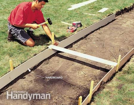 Устройство бетонных дорожек своими руками