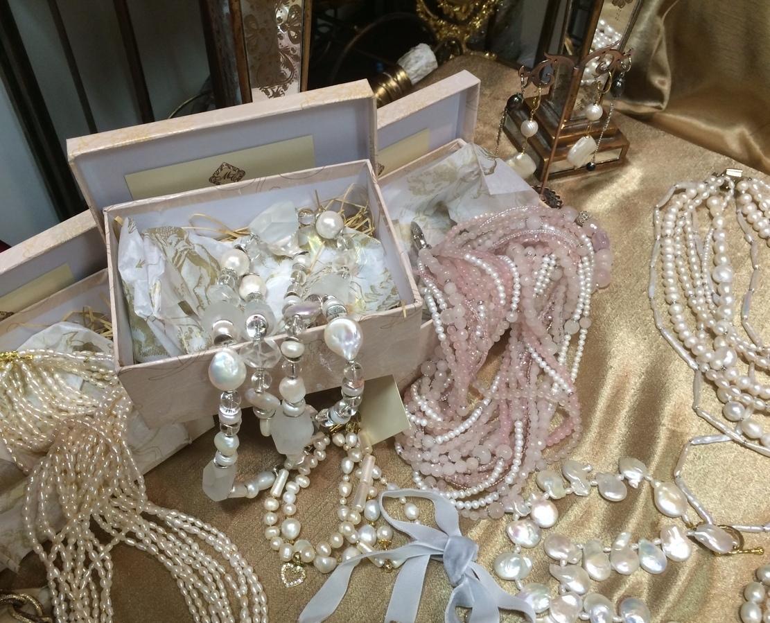 Жемчужные украшения на свадьбу фото