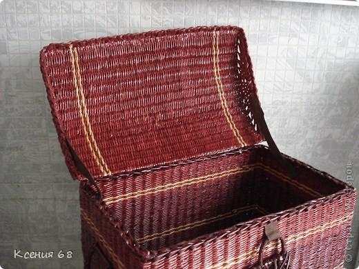 """Мастер-класс Плетение: Сундук на колесах в стиле """"минимализм"""" Бумага газетная Отдых. Фото 36"""