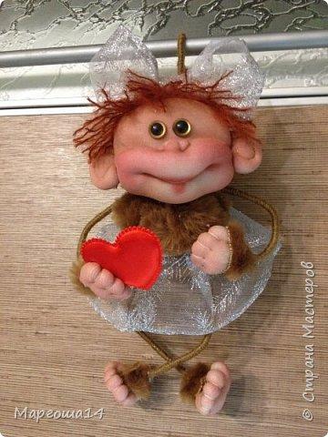 Игрушка Мастер-класс Новый год Шитьё МК по обезьянке Капрон Проволока Пряжа Ткань фото 26