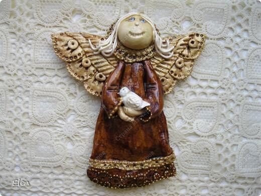 Картина, рисунок, панно Лепка: Ангелочки Гипс, Тесто соленое. Фото 4