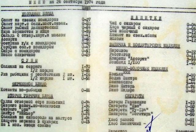 Цены в ресторанах во времена СССР или о социальной справедливости.