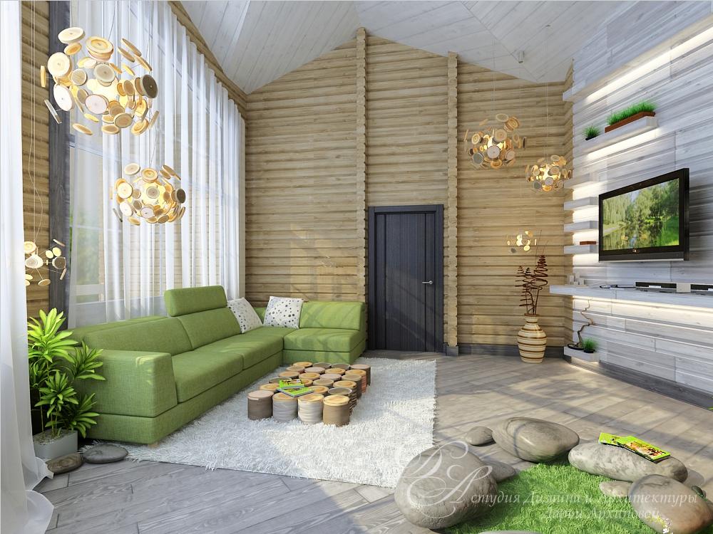 Бревенчатый дом в Челябинской области