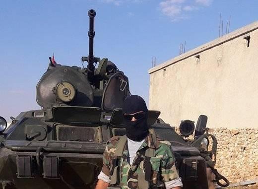 Сирийский спецназ получил БТР-82 с новым лазерным прожектором