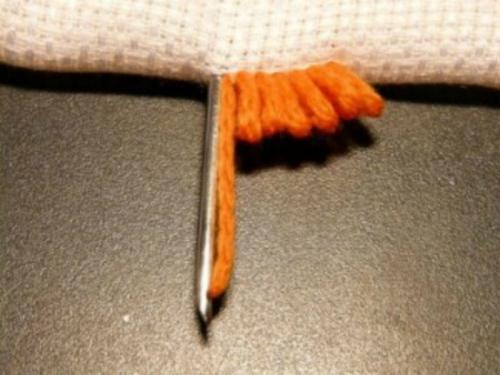 Вышивка ковров ковровой иглой