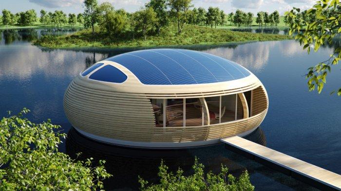 Плавающий дом-гнездо Джанкарло Дземы (Giancarlo Zema)
