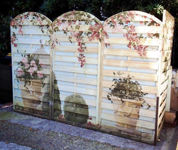 3. Элегантная садовая ширма своими руками, сделай сам