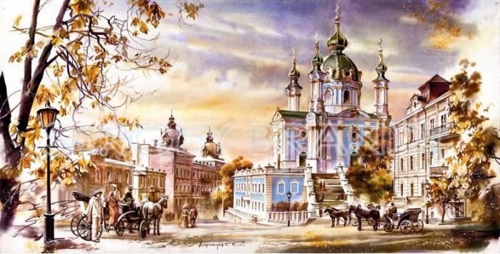 городской пейзаж акварель Сергей Брандт-04