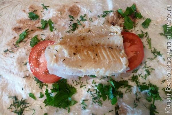 Шаурма с рыбой рецепт с фото